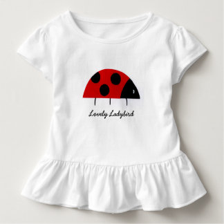 'Lovely Ladybird' Toddler Ruffle T-Shirt