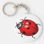 Lovely ladybug design products keychains