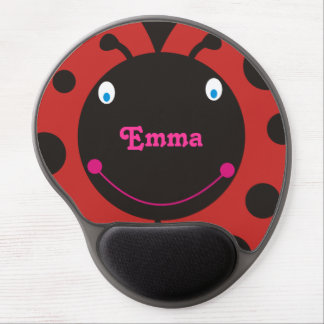 Lovely Ladybug Personalized Name Mousepad Gel Mouse Pad