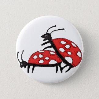 Lovely Ladybugs 6 Cm Round Badge