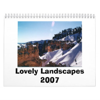 Lovely Landscapes 2007 Wall Calendar