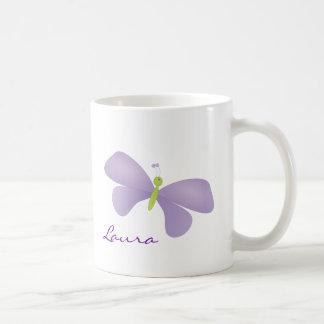 Lovely Laura Butterfly Basic White Mug