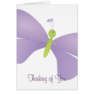 Lovely Laura Butterfly Greeting Card