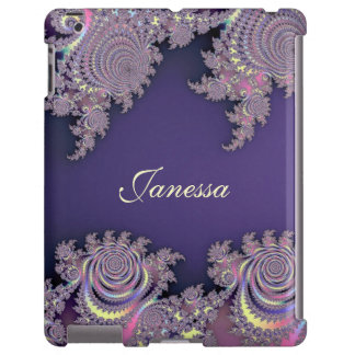 Lovely Lavender Fractal Personalized iPad Case