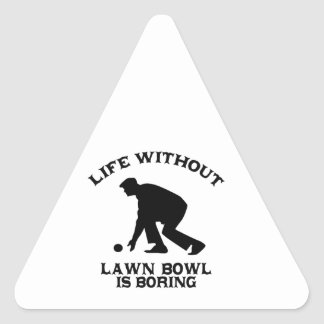 Lovely Lawn bowl DESIGNS Triangle Sticker