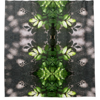 Lovely Leaf Pattern shower curtain