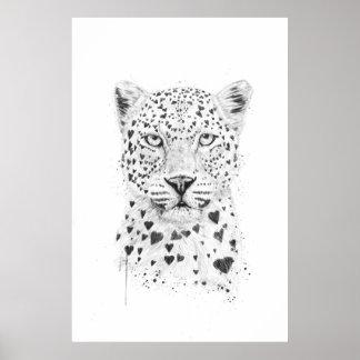 Lovely leopard poster