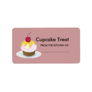 Lovely Lil Treat Sweet Cupcake Address Label