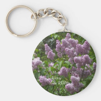 Lovely Lilac Bush Key Ring