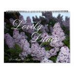 Lovely Lilacs 12 Month Calendar
