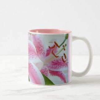 Lovely Lillies Two-Tone Mug