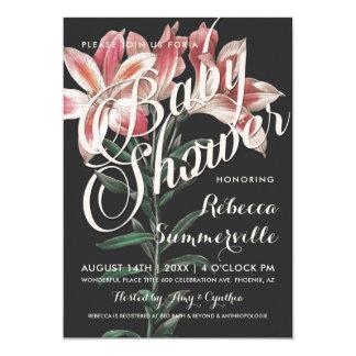 Lovely Lily Botanical Baby Shower Invitations