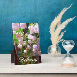 Lovely Lily of The Valley In Water Glass Plaques