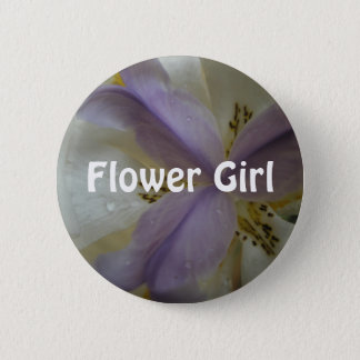Lovely Lily Wedding 6 Cm Round Badge