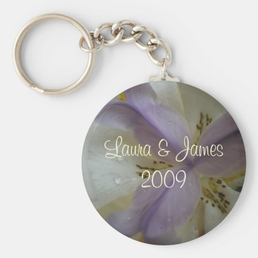 Lovely Lily Wedding Basic Round Button Key Ring