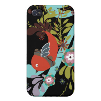 lovely little bird in a tree vector iPhone 4/4S cover