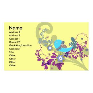 lovely little blue bird vector business card template