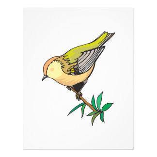 lovely little goldfinch bird flyer design