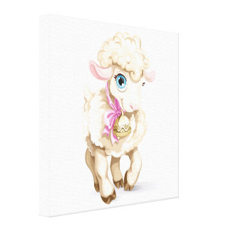 Lovely Little Lamb Canvas Art Gallery Wrapped Canvas