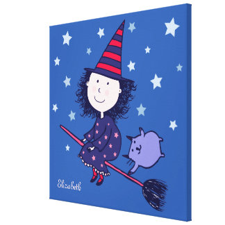 Lovely Little Witch Children s Canvas Print