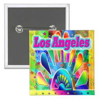 Lovely Los Angeles Sun & Palms Button