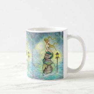Lovely Mermaid with Moon and Lantern Mug