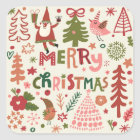 Lovely Merry Christmas Square Sticker