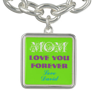 Lovely Monogram Charm Bracelet For Mom