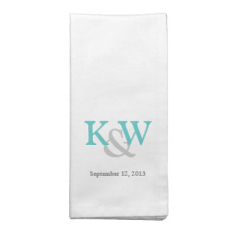 Lovely Monogram Wedding Dinner Napkins
