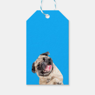 Lovely mops dog gift tags