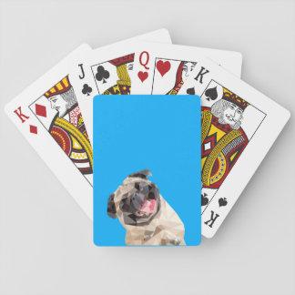 Lovely mops dog poker deck