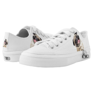 Lovely mops dog printed shoes