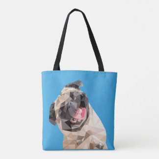 Lovely mops dog tote bag