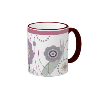 Lovely mug with flowers