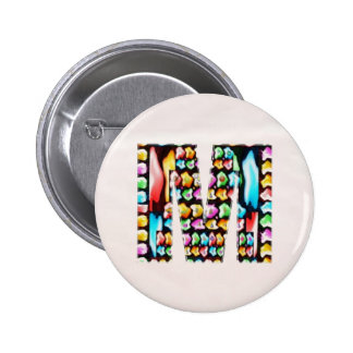 Lovely Name Initial M MM MMM n Let the World KNOW 6 Cm Round Badge