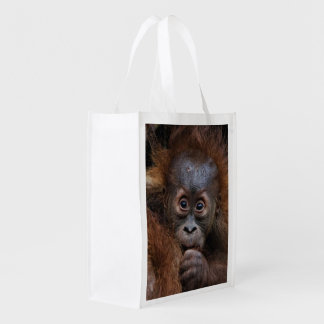 lovely orang baby reusable grocery bag