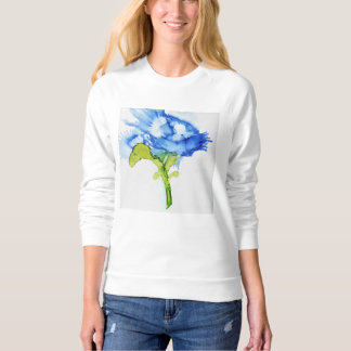 Lovely original abstract flower on lady's shirt