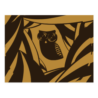 Lovely owl background with camera lense hypnotic e postcard
