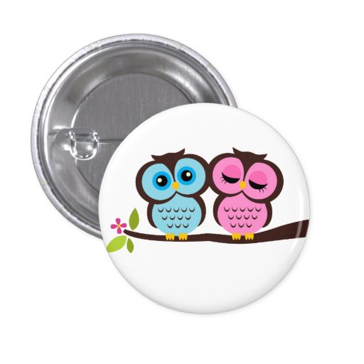 Lovely Owls 3 Cm Round Badge