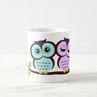 Lovely Owls Basic White Mug