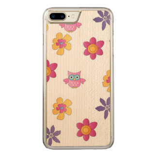 lovely owls carved iPhone 8 plus/7 plus case