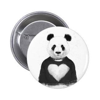 Lovely panda 6 cm round badge