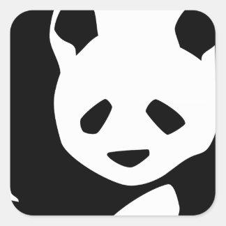 Lovely Panda Square Sticker