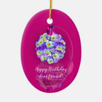 Lovely Pansy Atomizer  Birthday Party Christmas Ornament