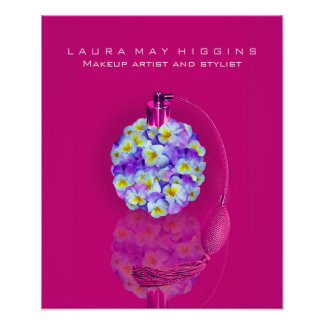 Lovely Pansy Atomizer Makeup and Stylist Poster