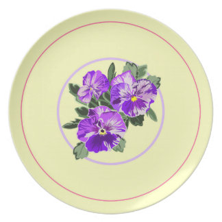 Lovely Pansy Plate