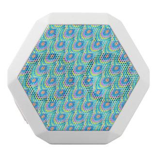 lovely pastel pattern white boombot rex bluetooth speaker