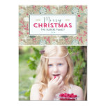 Lovely Pattern Christmas Holiday Photo Cards 13 Cm X 18 Cm Invitation Card