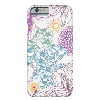 Lovely pattern with colorful flowers barely there iPhone 6 case