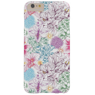 Lovely pattern with colorful flowers barely there iPhone 6 plus case